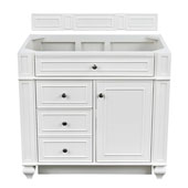 Bristol 36'' Single Bathroom Vanity, Cottage White w/o Countertop, 36''W x 22-1/2''D x 32-3/4''H