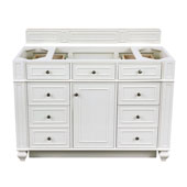 Bristol 48'' Single Bathroom Vanity, Cottage White w/o Countertop, 48''W x 22-1/2''D x 32-3/4''H