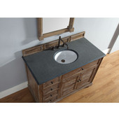 Savannah 48'' Driftwood Single Vanity with 2cm Absolute Black Rustic Stone Top