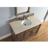 Savannah 48'' Driftwood Single Vanity with 2cm Galala Beige Stone Top