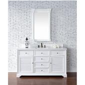 Savannah 60'' Single Vanity Cabinet, Cottage White, No Countertop