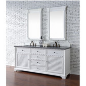 Savannah 72'' Double Vanity Cabinet, Cottage White, No Countertop