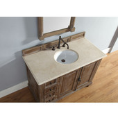 Providence 48'' Driftwood Single Vanity with 2cm Galala Beige Stone Top