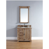 Providence 36'' Single Vanity Cabinet, Driftwood, No Countertop