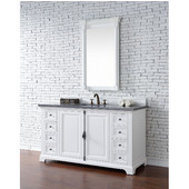 Providence 60'' Single Vanity Cabinet, Cottage White, No Countertop