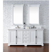 Providence 72'' Double Vanity Cabinet, Cottage White, No Countertop