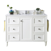 Copper Cove Encore 48'' Single Bathroom Vanity Cabinet Only in Bright White