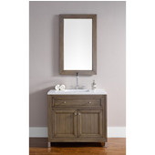 Chicago 36'' Single Vanity, White Washed Walnut, Wall Mounted or Free Standing, No Countertop