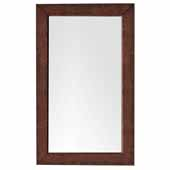 Columbia 29'' Wall Mounted, Rectangular Framed Mirror In Coffee Oak, 29''W x 3/4''D x 42''H