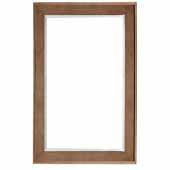Columbia 29'' Wall Mounted, Rectangular Framed Mirror In Latte Oak, 29''W x 3/4''D x 42''H