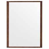 Columbia 48'' Wall Mounted, Rectangular Framed Mirror In Latte Oak, 48''W x 3/4''D x 42''H
