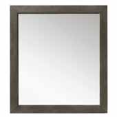 Columbia 48'' Wall Mounted, Rectangular Framed Mirror In Silver Oak, 48''W x 3/4''D x 42''H
