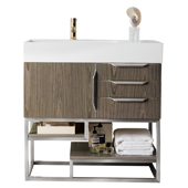 Columbia 36'' Single Bathroom Vanity Cabinet Only in Ash Gray Finish