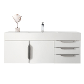Mercer Island 48'' Single Bathroom Vanity Cabinet Only in Glossy White Finish