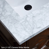 Brittany 48''W Cottage White Single Vanity with 3cm (1-1/5'') Thick Carrara Marble Top