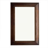 Portland 28'' Rectangular Mirror, Burnished Mahogany