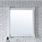 Brittany 35'' Mirror, Cottage White Finish, 35''W x 1-1/2''D x 29-1/4''H
