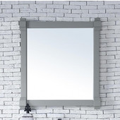 Brittany 35'' Mirror, Urban Gray Finish, 35''W x 1-1/2''D x 29-1/4''H