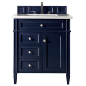 Brittany 30'' Single Bathroom Vanity Set in Victory Blue Finish with 1-1/5'' Arctic Fall Solid Surface Top and Sink