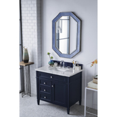 Brittany 36'' Single Bathroom Vanity Set in Victory Blue Finish with 1-1/5'' Carrara Marble Top and Sink