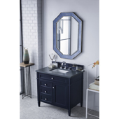 Brittany 36'' Single Bathroom Vanity Set in Victory Blue Finish with 1-1/5'' Charcoal Soapstone Quartz Top and Sink