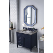 Brittany 36'' Single Bathroom Vanity Set in Victory Blue Finish with 1-1/5'' Grey Expo Quartz Top and Sink