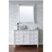 Brittany 48'' Single Cabinet, Cottage White, No Countertop