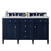 Brittany 60'' Double Bathroom Vanity Cabinet Only in Victory Blue Finish