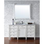 Brittany 60'' Single Cabinet, Cottage White, No Countertop