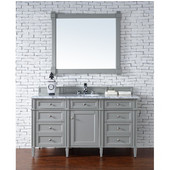 Brittany 60'' Single Cabinet, Urban Gray, No Countertop