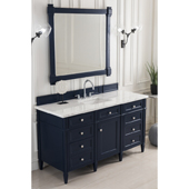 Brittany 60'' Single Bathroom Vanity Set in Victory Blue Finish with 1-1/5'' Carrara Marble Top and Sink
