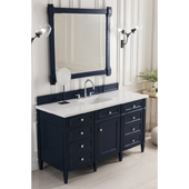 Brittany 60'' Single Bathroom Vanity Set in Victory Blue Finish with 1-1/5'' Classic White Quartz Top and Sink