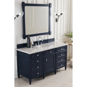 Brittany 60'' Single Bathroom Vanity Set in Victory Blue Finish with 1-1/5'' Iconic Black Quartz Top and Sink
