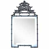 Crawford 28'' LED Wall Mounted, Rectangular Framed Mirror In Silver Gray, 28''W x 2-3/4''D x 47-1/4''H