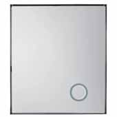 Levitate 42'' Framed, Wall Mount Mirror In Plated Nickel, 42''W x 2''D x 48''H