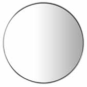 Simplicity 20'' Wall Mounted, Round Framed Mirror In Brushed Nickel, 20''Diameter x 2''D