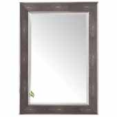 Element 27-1/2'' Wall Mounted, Rectangular Framed Mirror In Silver with Charcoal, 27-1/2''W x 1-3/4''D x 39-1/2''H