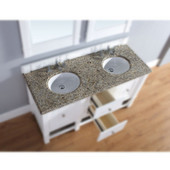 , 2cm Santa Cecilia Granite Countertop, Double Sink, 60'' Wide (Cabinet Base not Included)