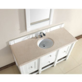 , 4cm Galala Beige Marble Countertop, Single Sink, 60'' Wide (Cabinet Base not Included)