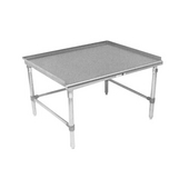 Equipment Stands Stainless Steel Work Table w/ 1-1/2'' Turn-up Riser on Rear & Both Ends & 7/8'' Radius Front Edge, Different Sizes Available