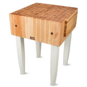 PCA Butcher Block with Knife Holder, Alabaster, Multiple Sizes Available