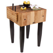 PCA Butcher Block with Knife Holder, Black, Multiple Sizes Available