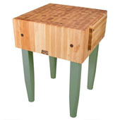 PCA Butcher Block with Knife Holder, Basil, Multiple Sizes Available