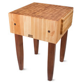 PCA Butcher Block with Knife Holder, Warm Cherry Stain, Multiple Sizes Available