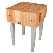 PCA Butcher Block with Knife Holder, Useful Gray Stain, Multiple Sizes Available