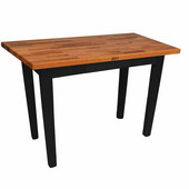 Oak Table Boos Block, 60'' W x 25'', 30'', or 36'' D x 35''H, Black