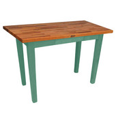Oak Table Boos Block, 48'' W x 25'', 30'', or 36'' D x 35''H, Basil