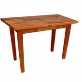 Oak Table Boos Block, 48'' W x 25'', 30'', or 36'' D x 35''H, Warm Cherry Stain