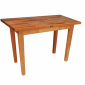 Oak Table Boos Block, 60'' W x 25'', 30'', or 36'' D x 35''H, Natural Maple