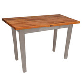 Oak Table Boos Block, 48'' W x 25'', 30'', or 36'' D x 35''H, Useful Gray Stain